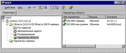 как добавить оснастку dhcp